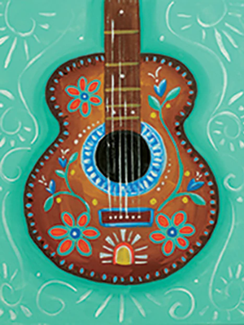 Mexican Guitar Canvas