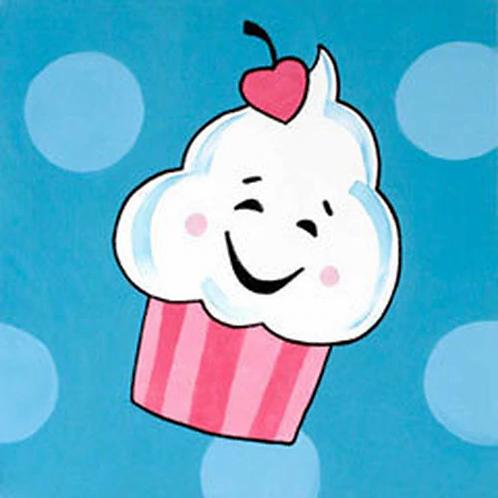 Cheery Cupcake Canvas