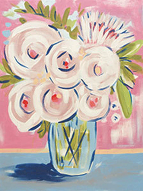 Abstract Peonies Canvas