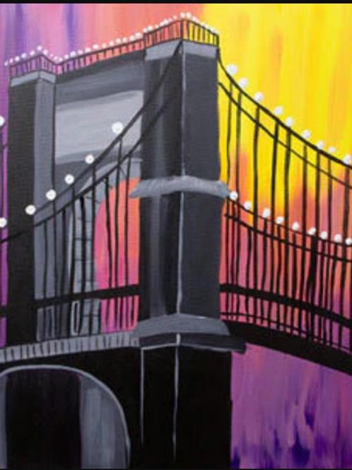 Twilight Bridge Canvas