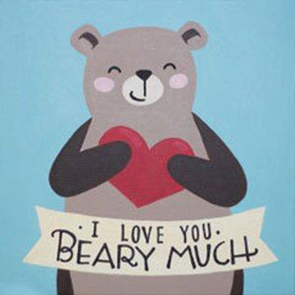 Love You Beary Much Canvas