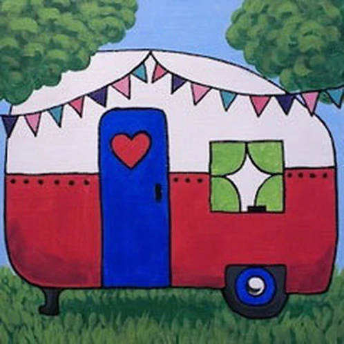 Happy Camper Canvas