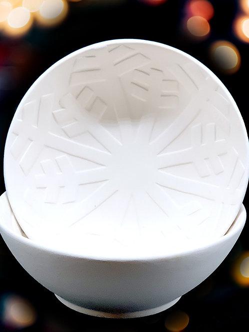 Frozen Snowflake Bowl