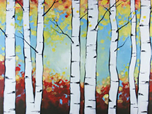 Birch Trees Canvas