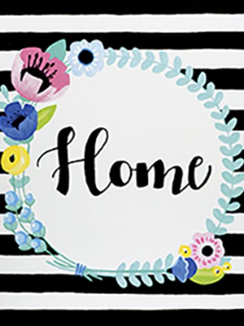 Floral Home Wreath Canvas