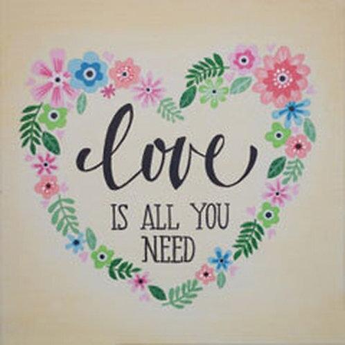 Love Wreath Canvas