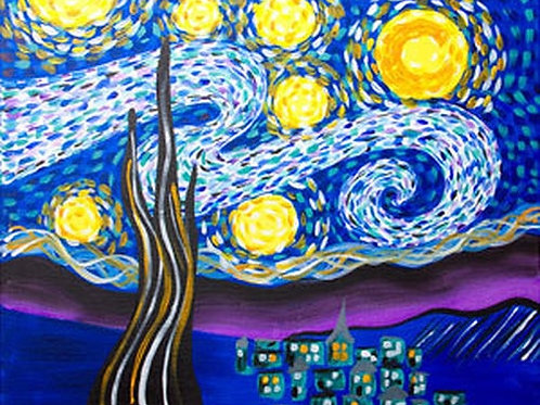 Starry Eve Canvas