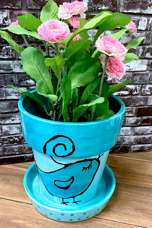 Small Flower Pot w/ Dish