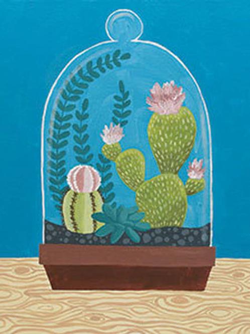 Cactus Cloche Canvas