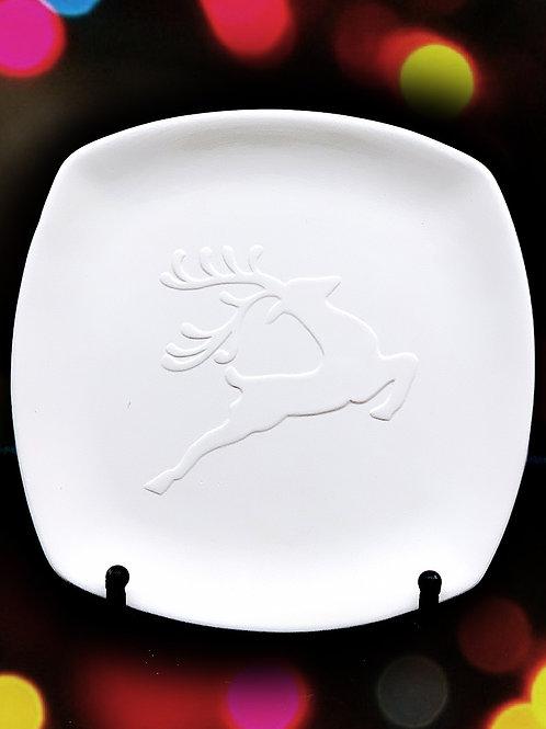 Reindeer Silhouette Plate