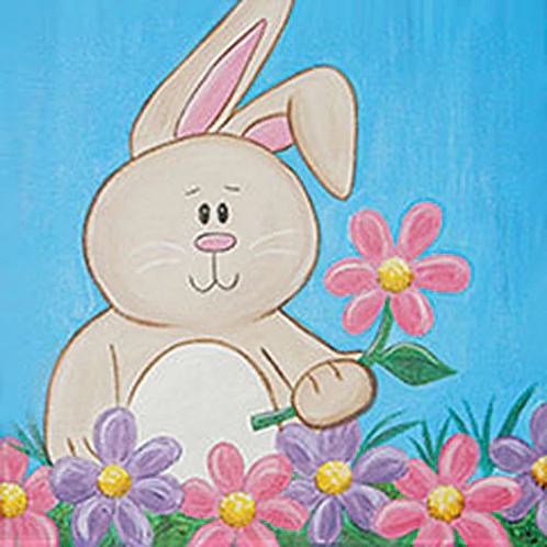 Springtime Bunny Canvas