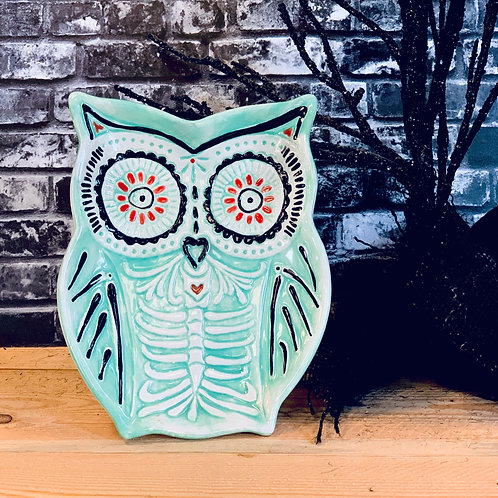 Day of the Dead Owl Dish