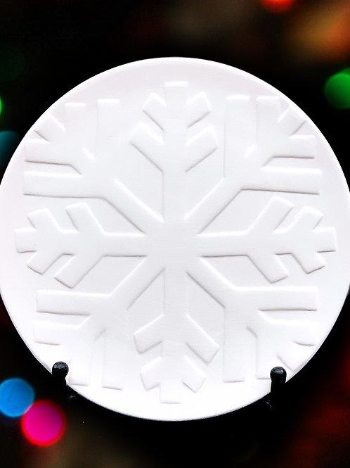 Frozen Snowflake Plate