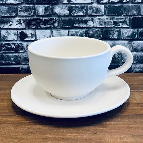 Cappuccino Mug & Saucer Set