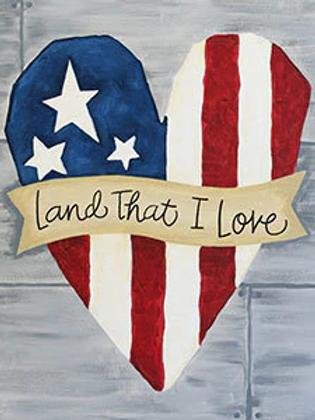 Land That I Love Canvas