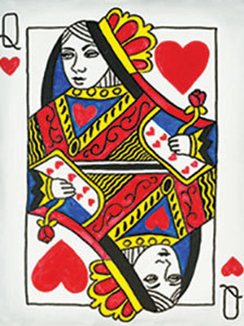 Queen of Hearts Canvas