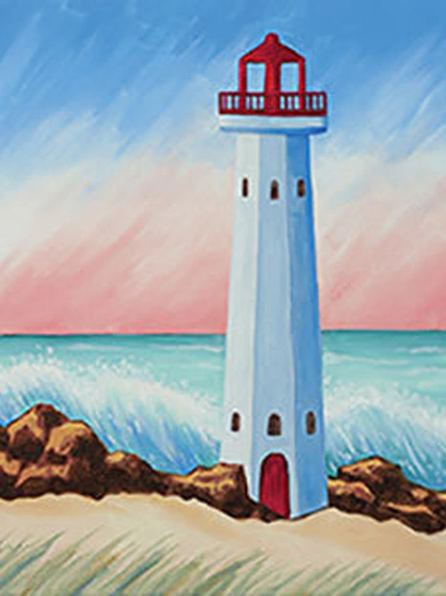 Coastal Lighthouse Canvas