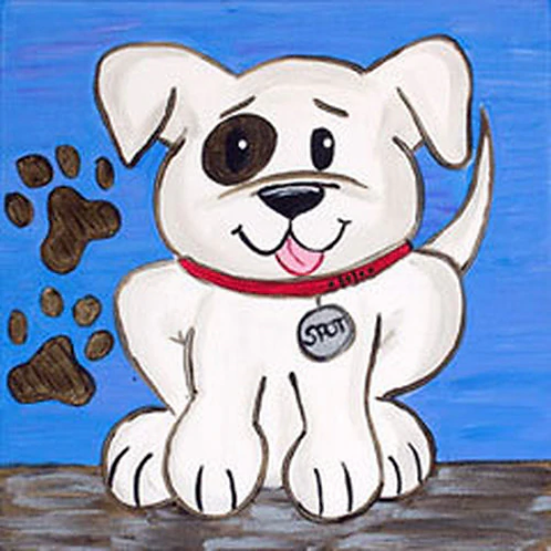 Playful Pup Canvas