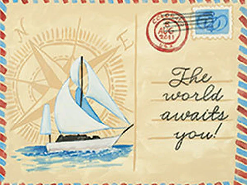 Vintage Postcard Canvas