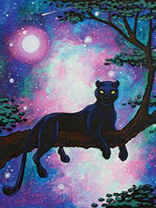 Cosmic Panther Canvas