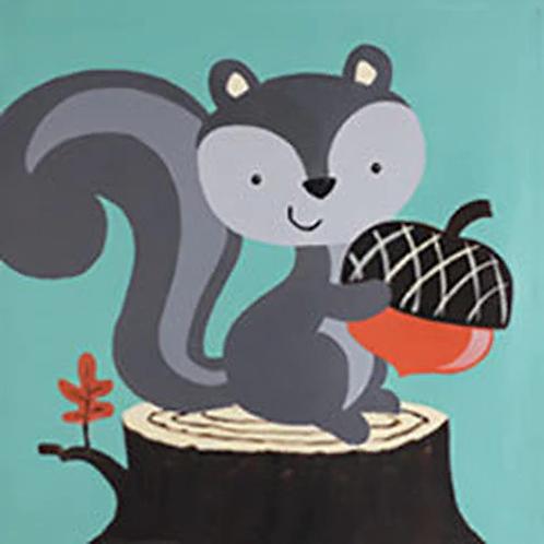 Grey Squirrel Canvas