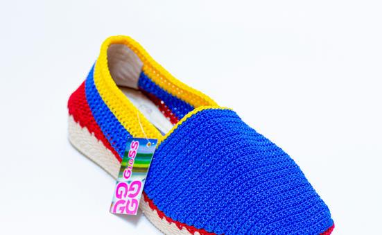 Alpargata dama tejida en crochet MILE AT13