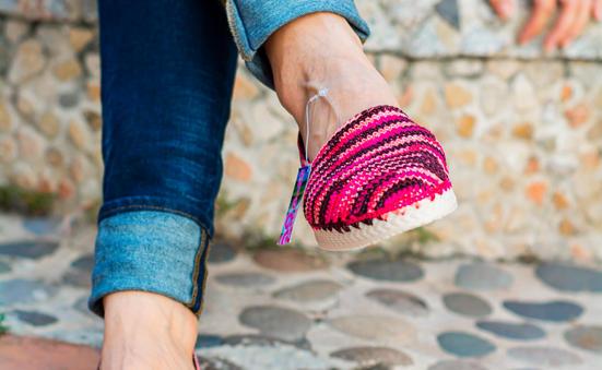 Alpargata dama tejida en crochet MILE AT15