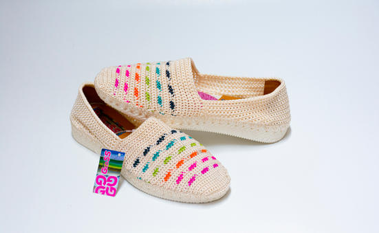 Alpargata dama tejida en crochet MILE AT12