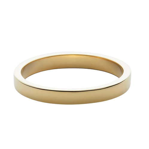 3mm 18k yellow gold ring band