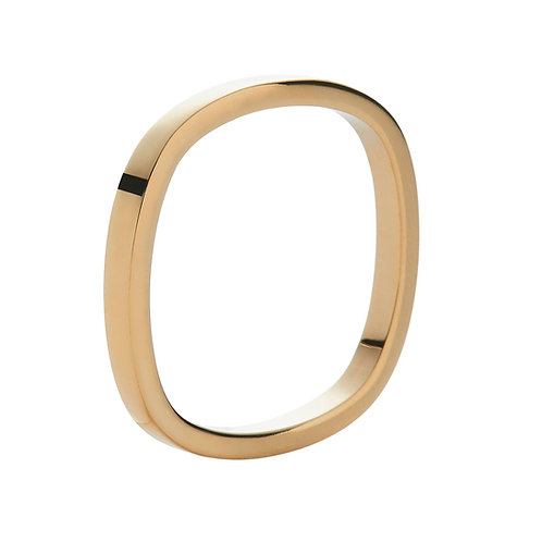 2mm 18k yellow gold ring band