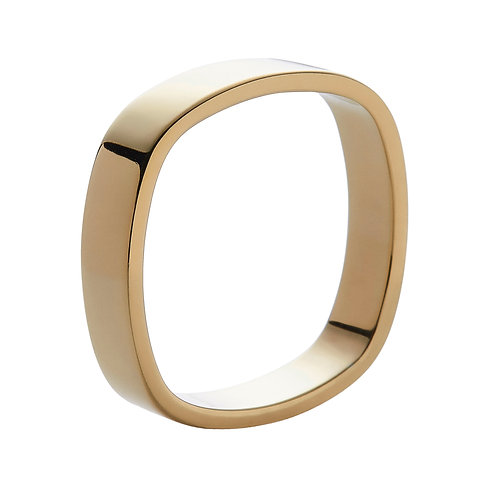 4mm 18k yellow gold ring band