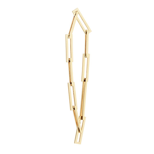 18k yellow gold bracelet with square links