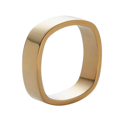 6mm 18k yellow gold ring band
