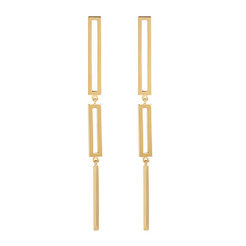 18k yellow gold statement earrings