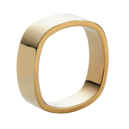 8mm wide 18k yellow gold ring band