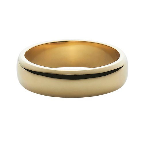 5mm 18k yellow gold half round ring band
