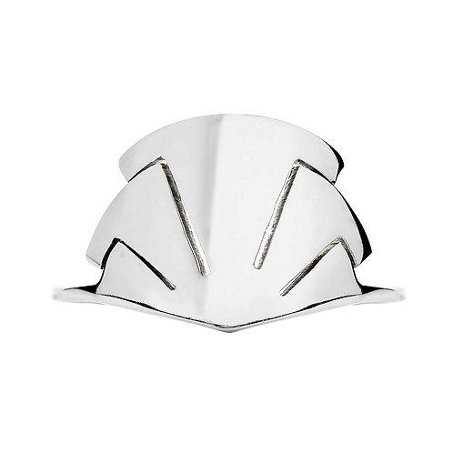 Sterling silver fan ring