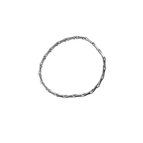 silver barley corn chain ring