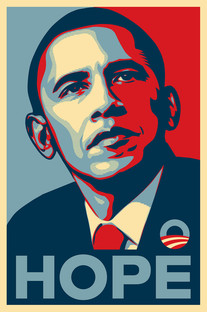 Obama Campaign Poster - Hope