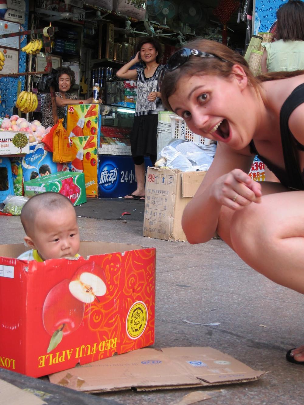The newest fad: Apple Box Babysitting - Copyright EB Words
