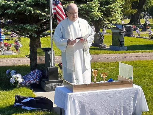 Celebrating Mass on Memorial Day