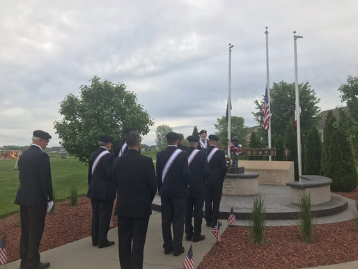 Wreath Laying Ceremony at Fallen Solider Memorial - Memorial Day