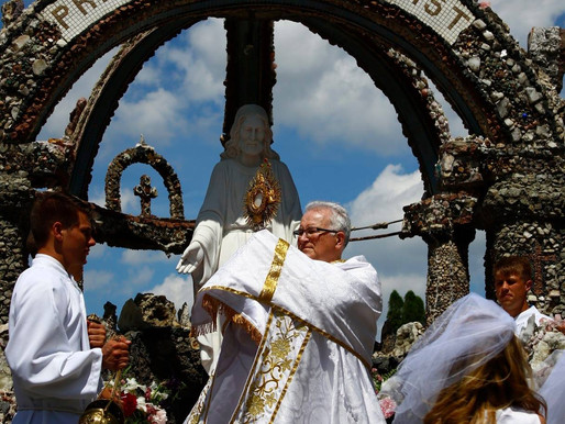 CORPUS  CHRISTI  Procession at Immaculate Conception Church, Gilbertville, IA