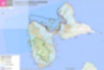 Carte réserve de biosphère guadeloupe