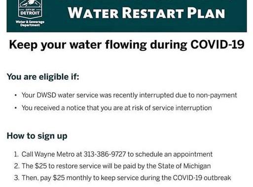 Detroit Water Restart Plan