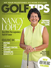Cover from golf tips magazine april 21-2