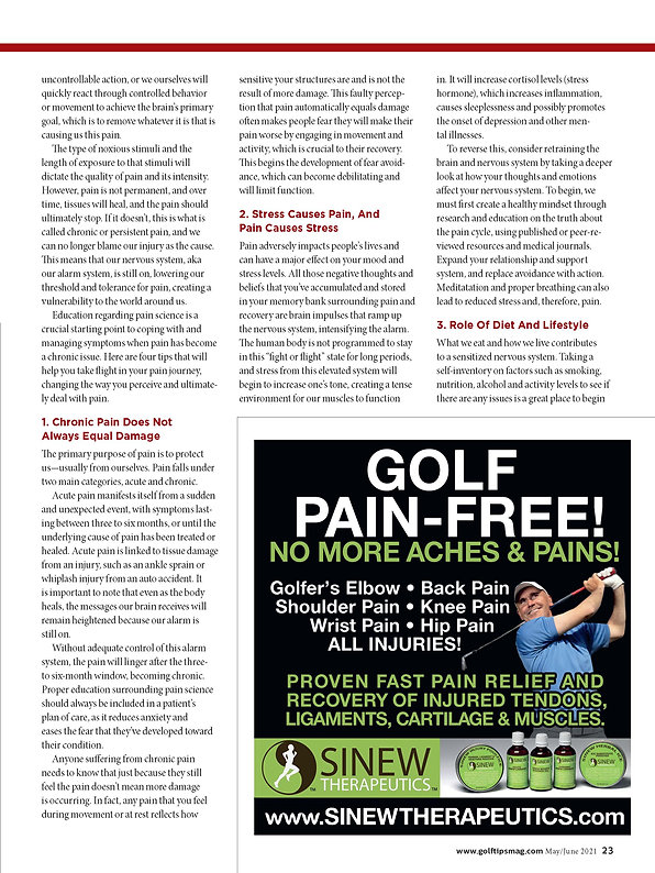 Article from golf tips magazine april 21