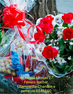 Chandon Buque e chocolate R$ 499
