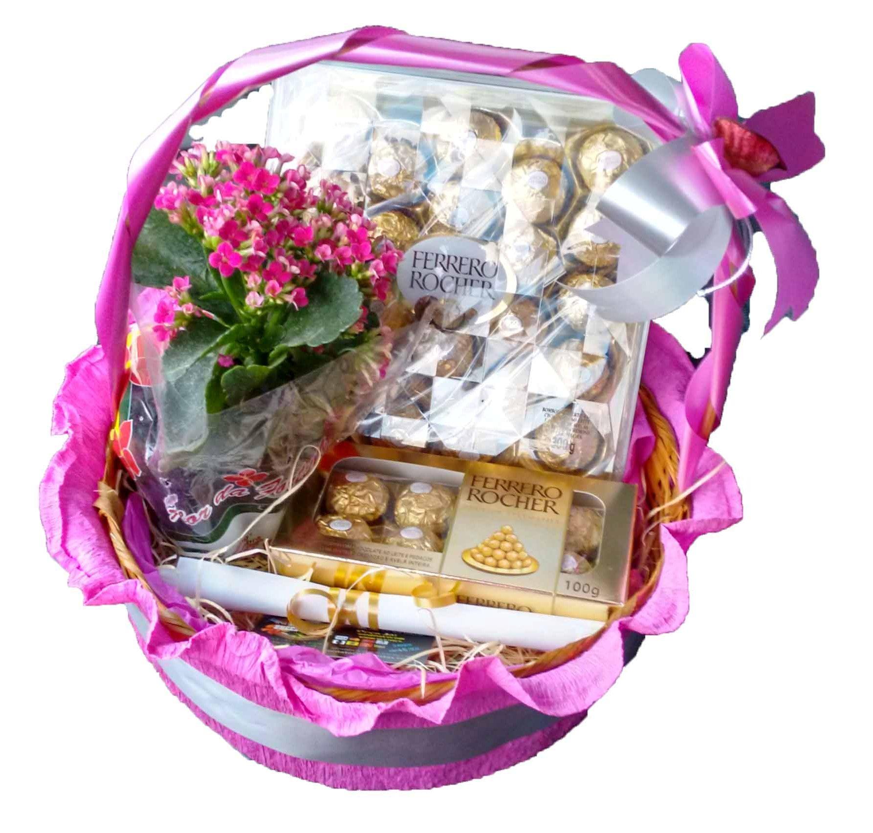 Ferrero rocher e vaso de flor R$ 190