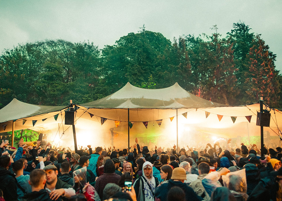 The walled Garden stage At Gottwood Festival. Events, Festival Anglesey, Music Photography. Photo taken by Rob Jones @hirobjones